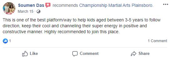 Kids1, Championship Martial Arts Plainsboro NJ